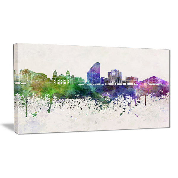 san jose skyline cityscape canvas artwork print PT6599