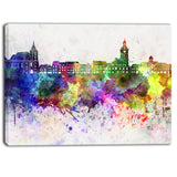 brasov skyline cityscape canvas artwork print PT6600
