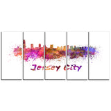 jersey city skyline cityscape canvas artwork print PT6601