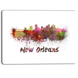 new orleans skyline cityscape canvas artwork print PT6602