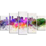 colombo skyline cityscape canvas artwork print PT6607