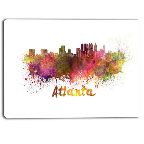 atlanta skyline cityscape canvas artwork print PT6608