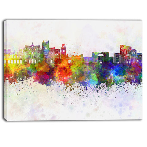 avila skyline cityscape canvas artwork print PT6609