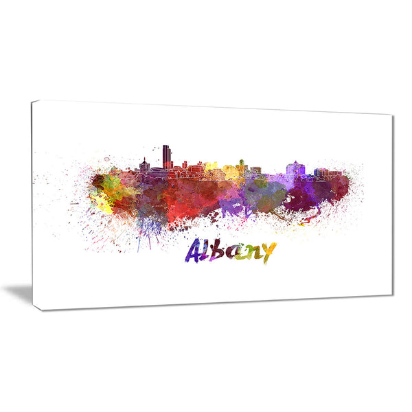 albany skyline cityscape canvas artwork print PT6614
