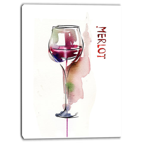 red wine contemporary artwork PT6622