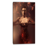 sensual nude woman in fire contemporary canvas art print PT6624