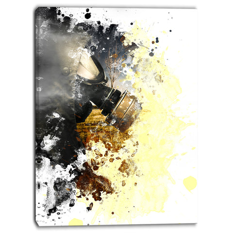 disaster of war and gas digital abstract canvas art print PT6626