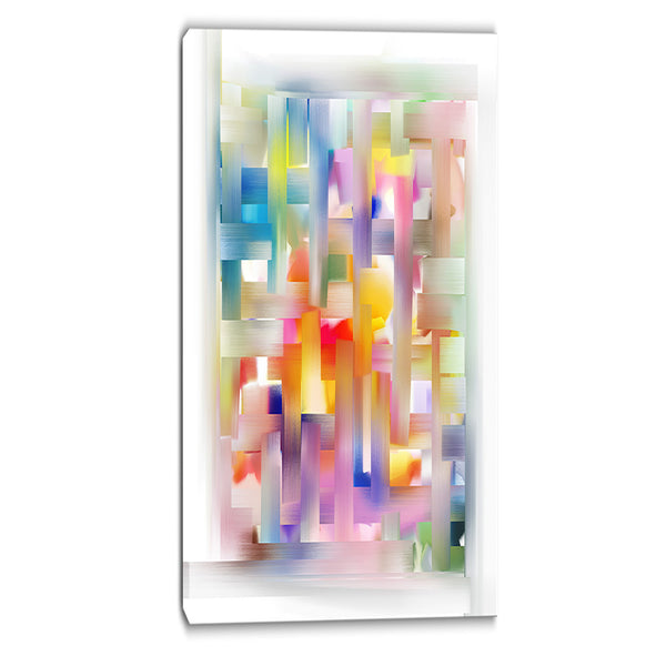 colorful seamless pattern abstract canvas art print PT6649