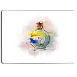 perfume bottle contemporary canvas art print PT6653