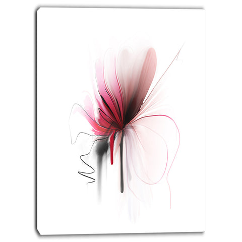 abstract flower floral digital canvas art print PT6656