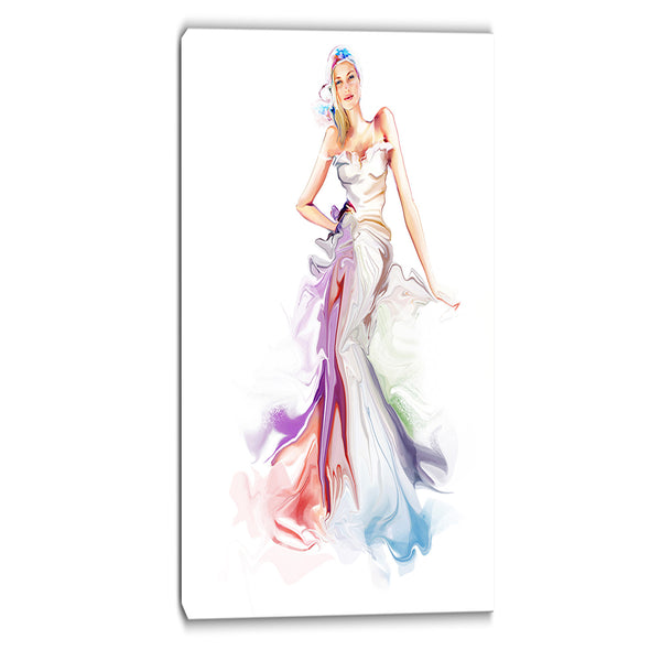 beautiful fashion girl contemporary artwork PT6658