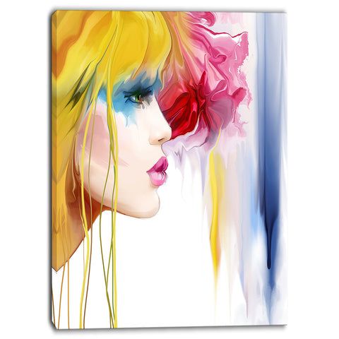 girl with colorful hair portrait contemporary artwork PT6663