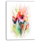 floral watercolor illustration floral contemporary canvas art print PT6664