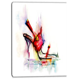 red high heel shoe digital canvas art print PT6666