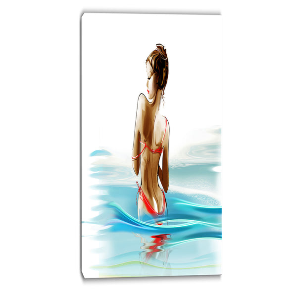 woman in bikini sensual canvas art print PT6668