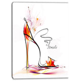 abstract red high heel digital abstract canvas art print PT6678