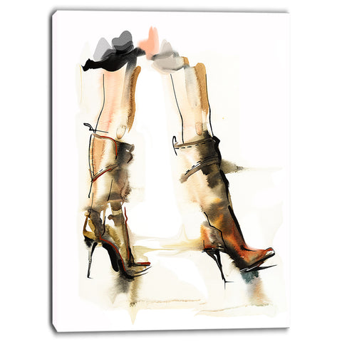 high heel shoes digital canvas art print PT6684