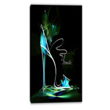 green high heel show abstract canvas art print PT6693