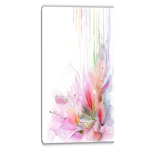 floral composition abstract floral print on canvas PT6699
