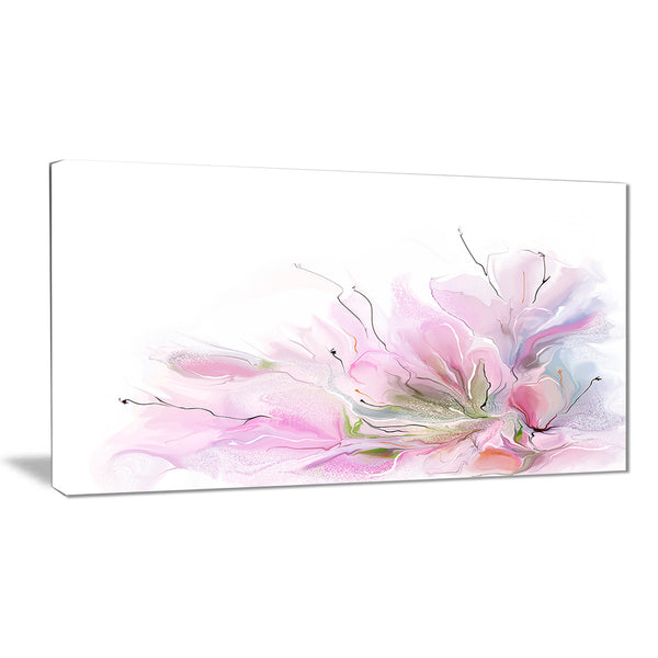 lovely pink flowers floral contemporary canvas art print PT6708