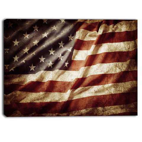 american flag contemporary canvas art print PT6715