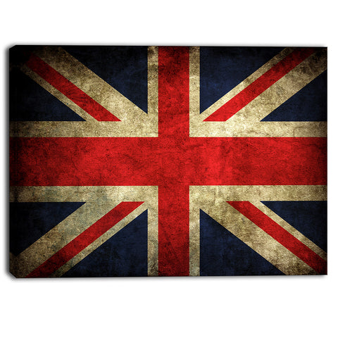 vintage uk flag contemporary canvas art print PT6716