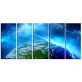 planet earth in universe contemporary canvas art print PT6720