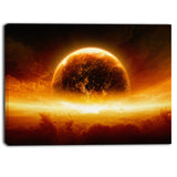planet earth explosion contemporary canvas art print PT6723