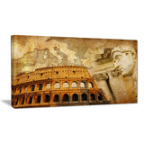 great roman empire digital art collage canvas art PT6729
