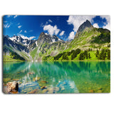 bright day mountain lake photography canvas art print PT6735