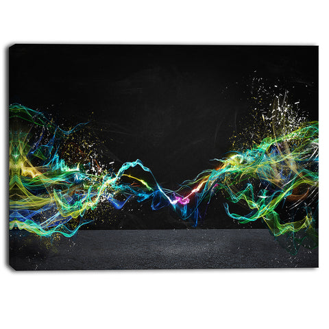 abstract motion banner contemporary canvas art print PT6742