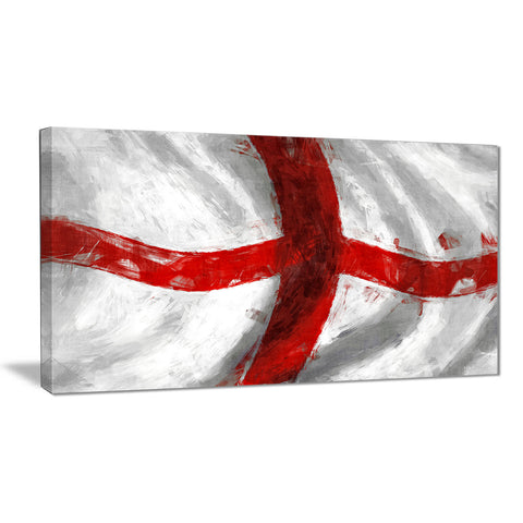 flag of england contemporary canvas art print PT6747