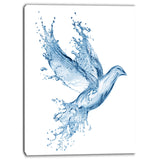 dove from water splashes animal digital canvas art print PT6753