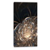 fractal flower with golden rays floral canvas art print PT6755