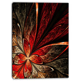 fractal flower in yellow and red floral canvas print PT6756