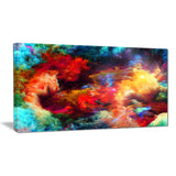 fractal paint fusion contemporary art canvas print PT6757