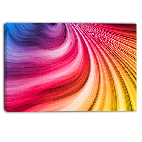 abstract colorful waves contemporary canvas art print PT6764