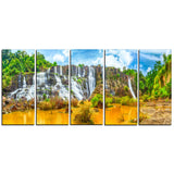 pongour waterfall landscape photography canvas print PT6772
