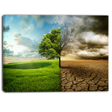 global warming landscape contemporary canvas art print PT6784