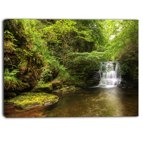 water flowing over rocks landscape photo canvas print PT6791
