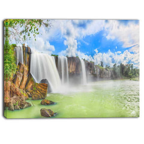 dry nur waterfall landscape photo canvas art print PT6794