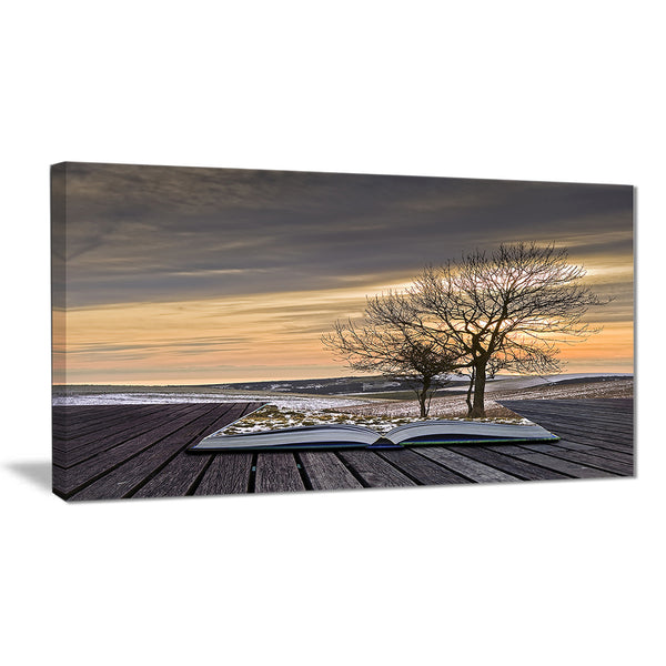 winter coming out of pages contemporary art canvas print PT6800