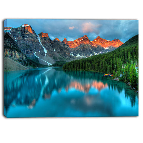 Moraine Lake Sunrise landscape Photography Canvas Art Print & Metal Wall Art - PT6802