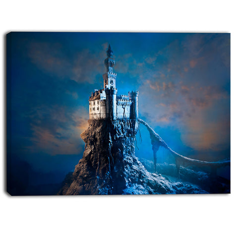 castle on the hill contemporary canvas art print PT6805