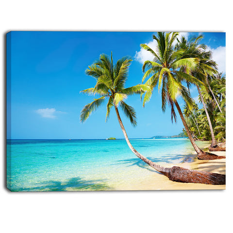 tropical beach photography seascape canvas print PT6809