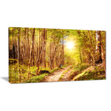 autumn in denmark photo landscape canvas print PT6812