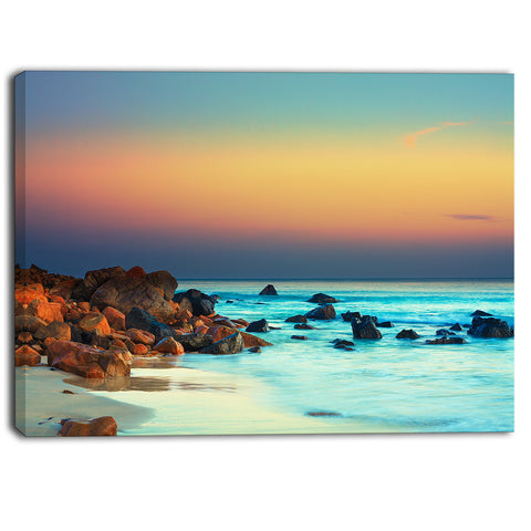 sunset over blue sky seascape photography canvas print PT6816