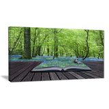 open book to green forest – digital landscape canvas print PT6821