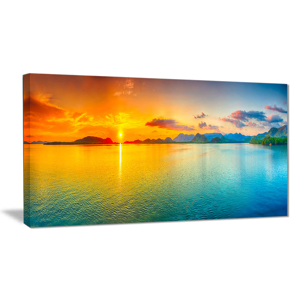 bright sunset panorama photography canvas art print PT6822