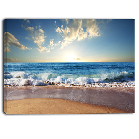 sea sunset seascape photography canvas art print PT6823